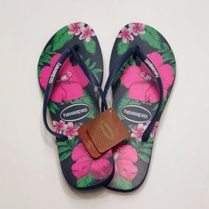 NEW HAVAIANAS WOMENS SANDALS Hawaiian Floral